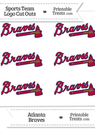 Small Atlanta Braves Logo Cut Outs from PrintableTreats.com