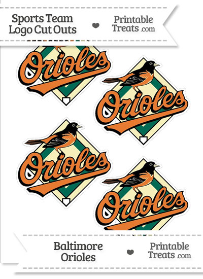 Small Baltimore Orioles Logo Cut Outs from PrintableTreats.com