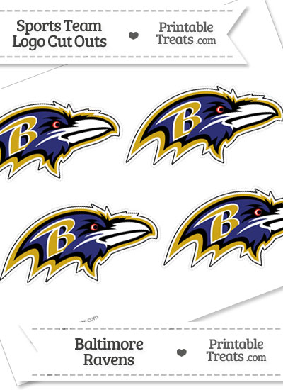 Small Baltimore Ravens Logo Cut Outs from PrintableTreats.com
