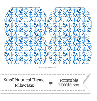 Small Blue Anchors Pillow Box from PrintableTreats.com
