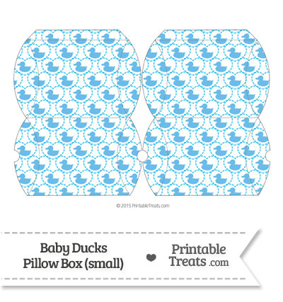 Small Blue Baby Ducks Pillow Box from PrintableTreats.com