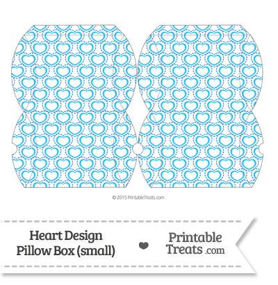Small Blue Heart Design Pillow Box from PrintableTreats.com
