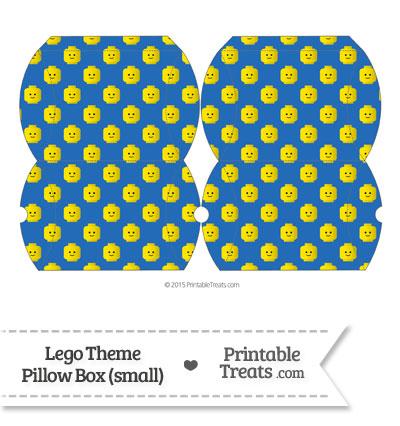 Small Blue Lego Theme Pillow Box from PrintableTreats.com