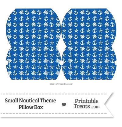 Small Blue Nautical Pillow Box from PrintableTreats.com