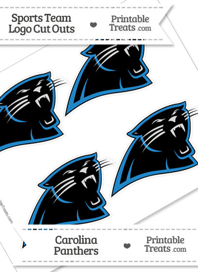 Small Carolina Panthers Logo Cut Outs from PrintableTreats.com
