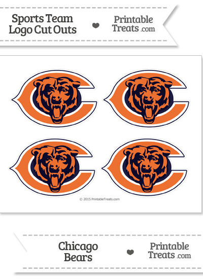 Small Chicago Bears Logo Cut Outs from PrintableTreats.com