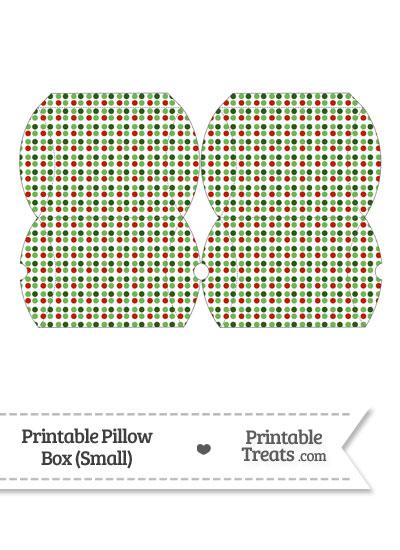 Small Christmas Dots Pillow Box from PrintableTreats.com