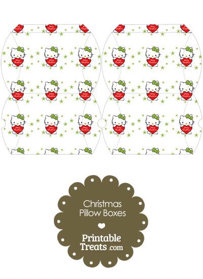 Small Christmas Hello Kitty Pillow Box from PrintableTreats.com