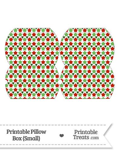 Small Christmas Stars Pillow Box from PrintableTreats.com