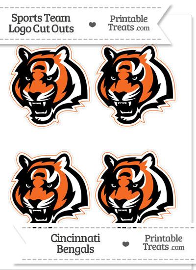 Small Cincinnati Bengals Logo Cut Outs from PrintableTreats.com