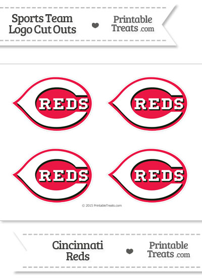 Small Cincinnati Reds Logo Cut Outs from PrintableTreats.com