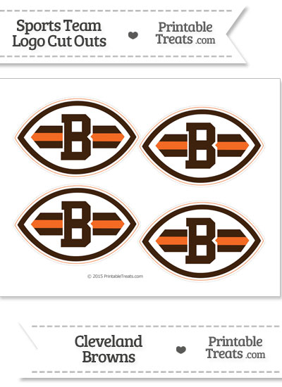 Small Cleveland Browns Logo Cut Outs from PrintableTreats.com