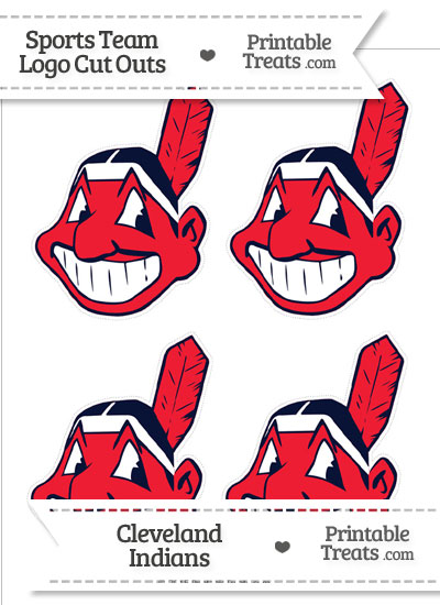Small Cleveland Indians Logo Cut Outs from PrintableTreats.com