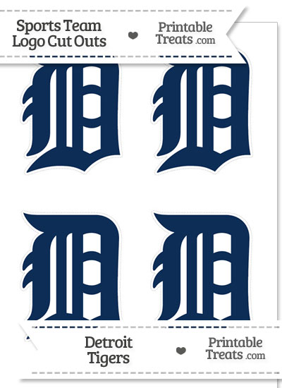 Small Detroit Tigers Logo Cut Outs from PrintableTreats.com