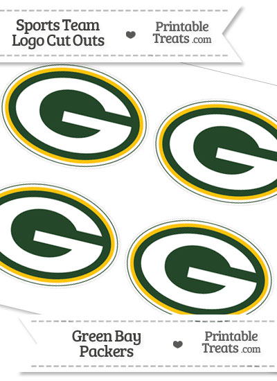 Small Green Bay Packers Logo Cut Outs from PrintableTreats.com