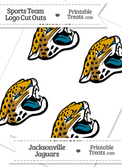 Small Jacksonville Jaguars Logo Cut Outs from PrintableTreats.com