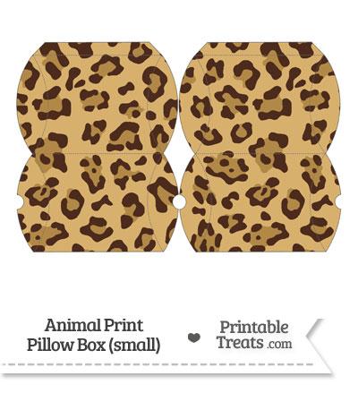Small Jaguar Print Pillow Box from PrintableTreats.com