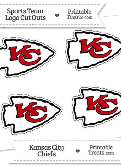 Small Kansas City Chiefs Logo Cut Outs from PrintableTreats.com
