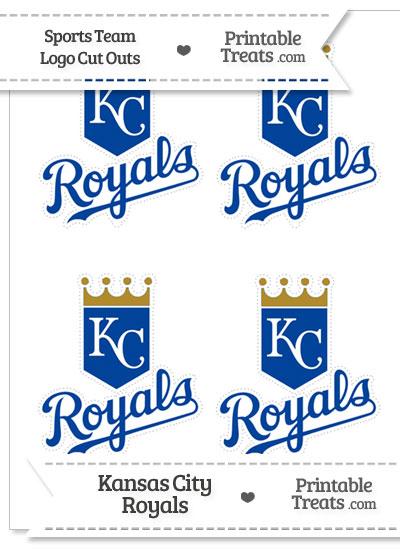 Small Kansas City Royals Logo Cut Outs from PrintableTreats.com