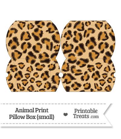 Small Leopard Print Pillow Box from PrintableTreats.com