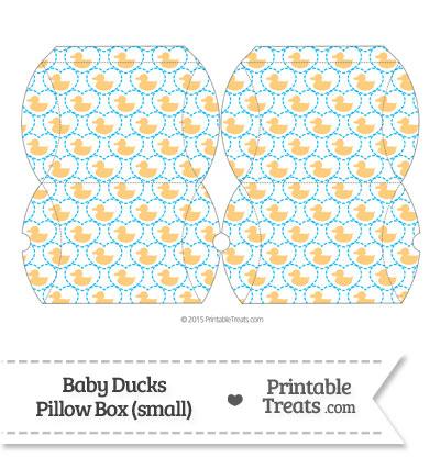 Small Light Orange Baby Ducks Pillow Box from PrintableTreats.com