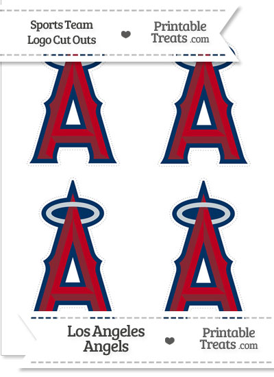 Small Los Angeles Angels Logo Cut Outs from PrintableTreats.com