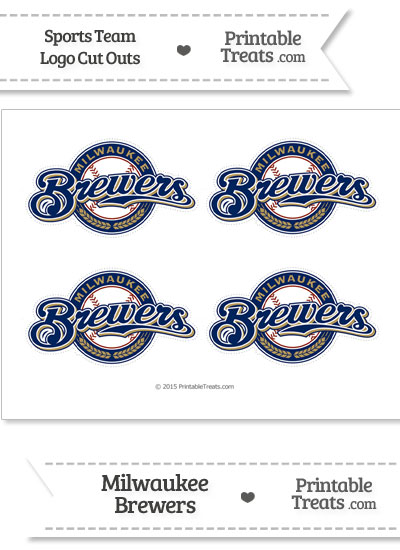 Small Milwaukee Brewers Logo Cut Outs from PrintableTreats.com