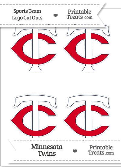 Small Minnesota Twins Logo Cut Outs from PrintableTreats.com