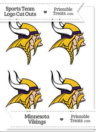 Small Minnesota Vikings Logo Cut Outs from PrintableTreats.com