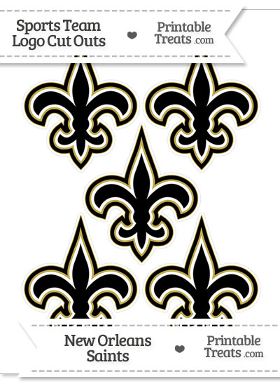 Small New Orleans Saints Logo Cut Outs from PrintableTreats.com