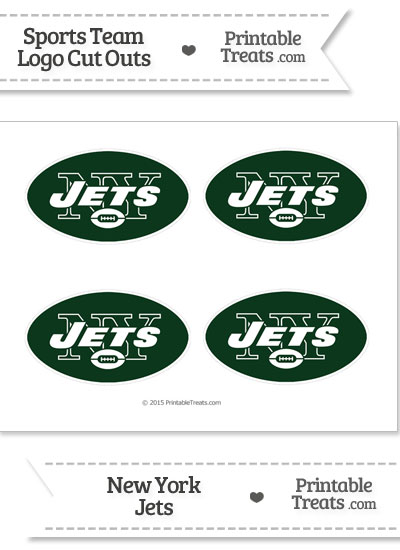Small New York Jets Logo Cut Outs from PrintableTreats.com