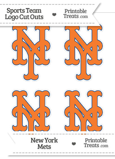 Small New York Mets Logo Cut Outs from PrintableTreats.com