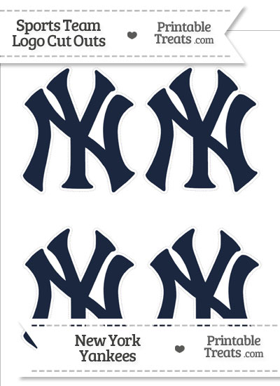 Small New York Yankees Logo Cut Outs from PrintableTreats.com