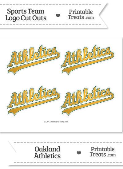 Small Oakland Athletics Logo Cut Outs from PrintableTreats.com