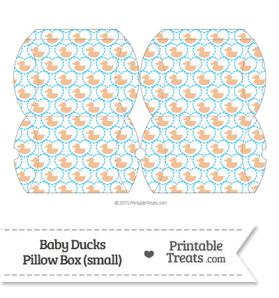 Small Orange Baby Ducks Pillow Box from PrintableTreats.com