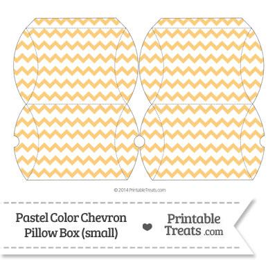 Small Pastel Light Orange Chevron Pillow Box from PrintableTreats.com
