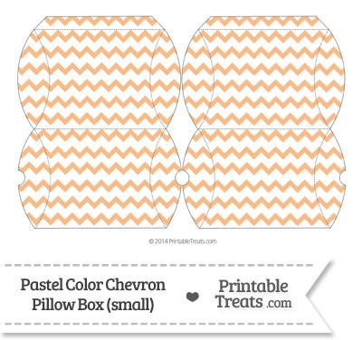 Small Pastel Orange Chevron Pillow Box from PrintableTreats.com