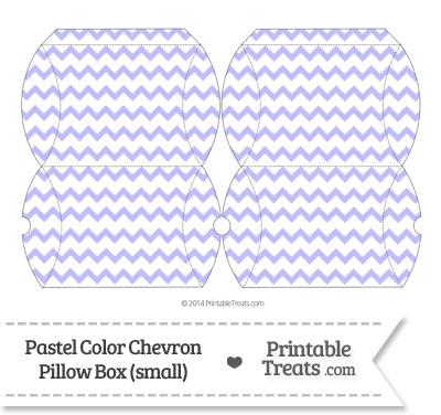 Small Pastel Purple Chevron Pillow Box from PrintableTreats.com