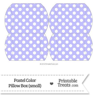Small Pastel Purple Polka Dot Pillow Box from PrintableTreats.com