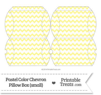 Small Pastel Yellow Chevron Pillow Box from PrintableTreats.com