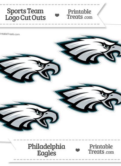 Small Philadelphia Eagles Logo Cut Outs from PrintableTreats.com