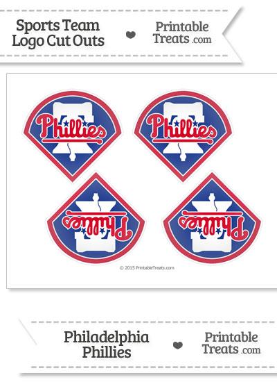 Small Philadelphia Phillies Logo Cut Outs from PrintableTreats.com
