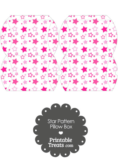 Small Pink Star Pattern Pillow Box from PrintableTreats.com