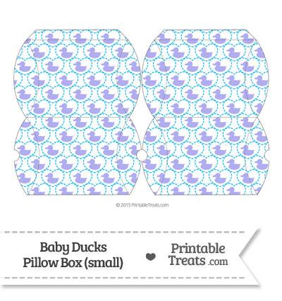 Small Purple Baby Ducks Pillow Box from PrintableTreats.com