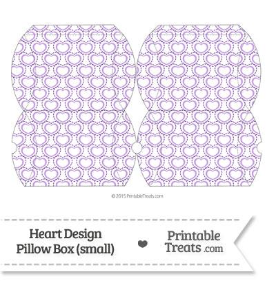 Small Purple Heart Design Pillow Box from PrintableTreats.com