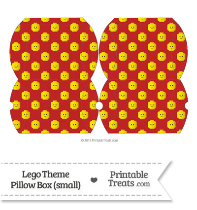 Small Red Lego Theme Pillow Box from PrintableTreats.com