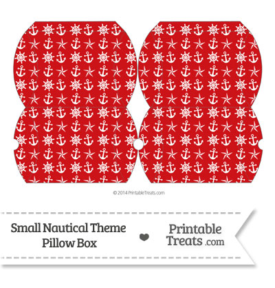 Small Red Nautical Pillow Box from PrintableTreats.com