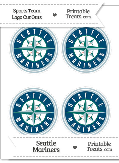 Small Seattle Mariners Logo Cut Outs from PrintableTreats.com