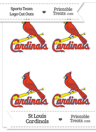 Small St Louis Cardinals Logo Cut Outs from PrintableTreats.com