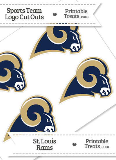 Small St Louis Rams Logo Cut Outs from PrintableTreats.com